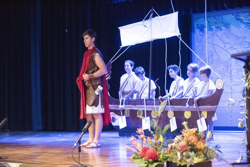 Odysseus setting sail